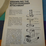Sunbeam Slicer Shredder 94480 94-480 Mixmaster Attachment Part - Food Pusher wt Measurements