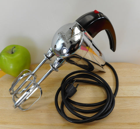 Sunbeam Junior Electric Hand Held Mixer - Vintage Chrome Space Age 1950s
