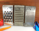 Super Remark 3 Set - Slaw Vegetable Cutter Grater - Vintage Tinned Steel Kitchen Tool