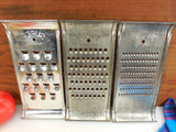 Super Remark 3 Set - Slaw Vegetable Cutter Grater - Vintage Tinned Steel Kitchen Tool... clean used