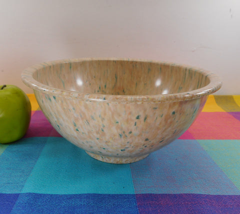 "Texas Ware Melamine Confetti Splatter 10"" Bowl - 118 Pink Tan Blue Green"