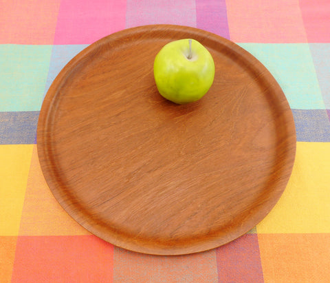 "Backman Finland Teak Pressed Plywood Serving Tray 14"" Platter MCM"