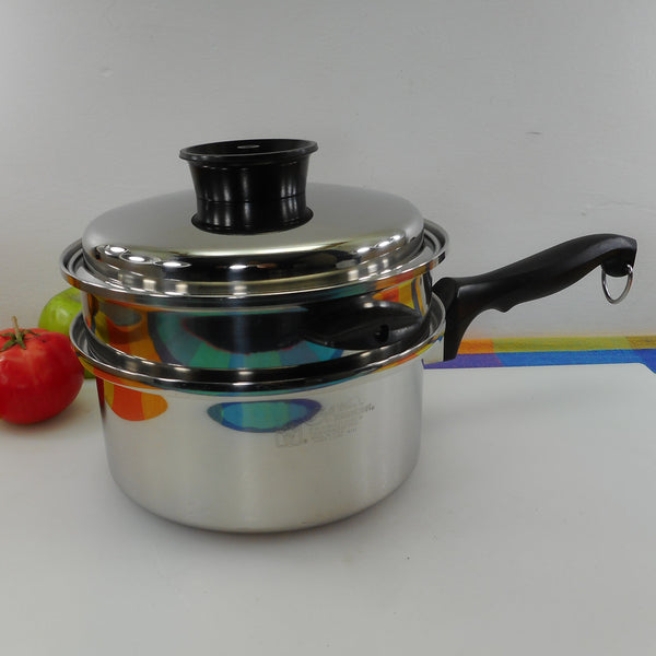 Townecraft Chef's Ware 3 Quart Sauce Pan with Steamer Insert 5 Ply Stainless