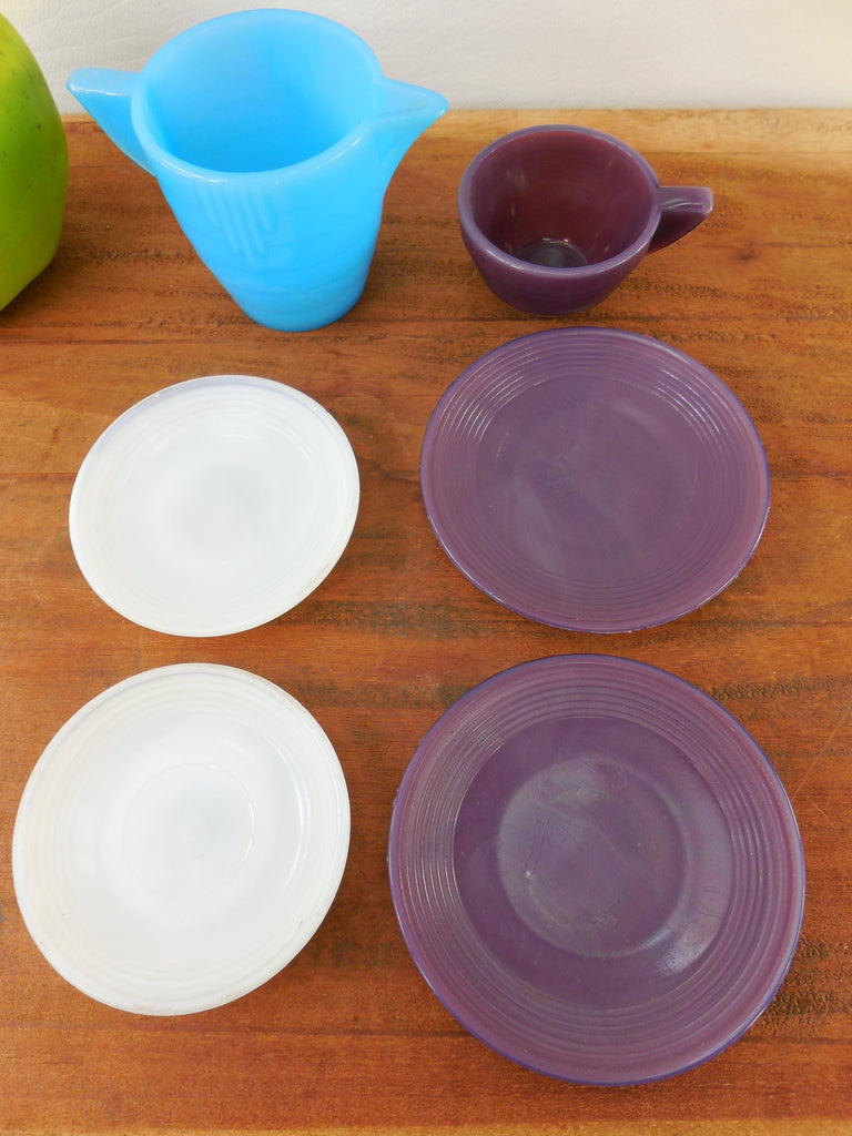 Sold Akro Agate Child S Dishes Vintage Toy Purple