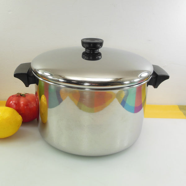 Revere Ware Stainless Tri-ply 6 Quart Soup Stock Pot 2066 Korea