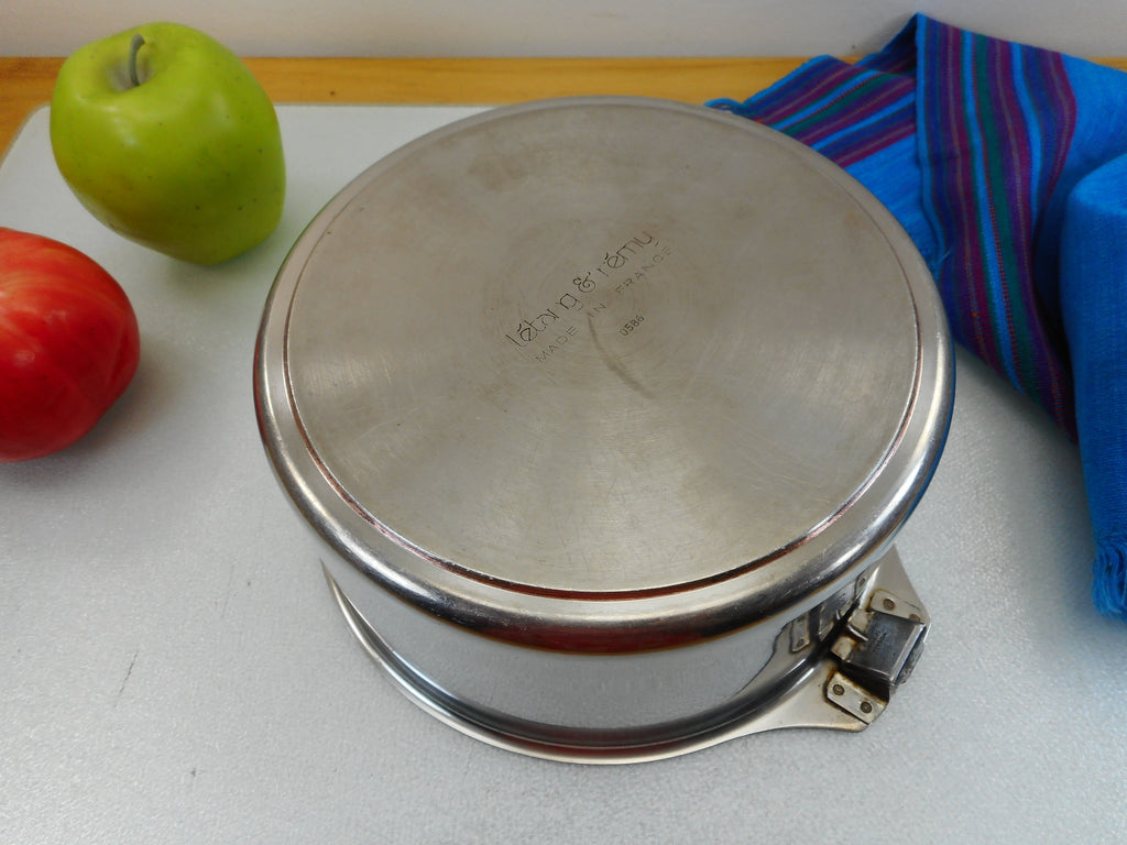 Letang & Remy France Triplinox 1980s Stainless Copper Disc Cookware 2 Quart Sauce Pan Pot - No Lid or Handle