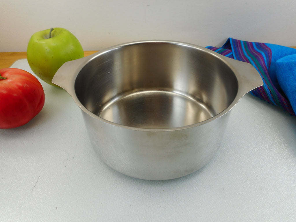 Letang & Remy France Triplinox 1980s Stainless Cookware 1.5 Quart Sauce Pan Pot - No Lid or Handle
