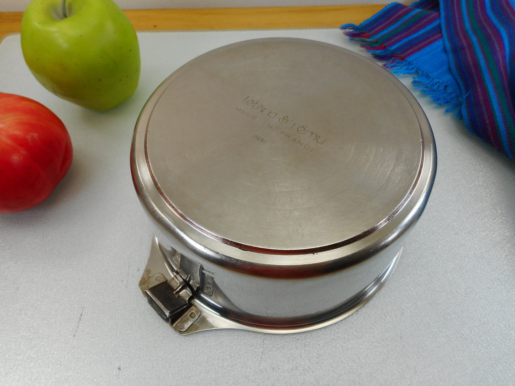 Letang & Remy France Triplinox 1980s Stainless Coppe Disc Cookware 1.5 Quart Sauce Pan Pot - No Lid or Handle