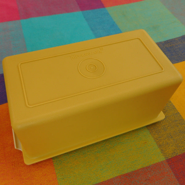 Tupperware Harvest Gold 2 Stick 1 Lb. Butter Keeper Dish Vintage USA