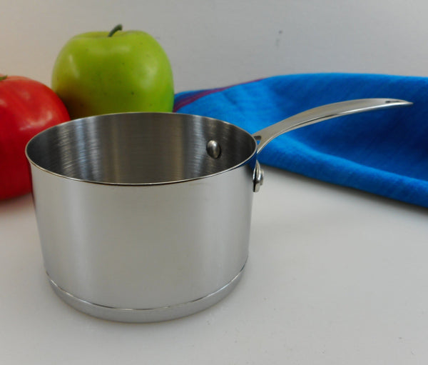 Unbranded Stainless Steel 1 Cup Butter Syrup Warmer Melter - Small Saucepan