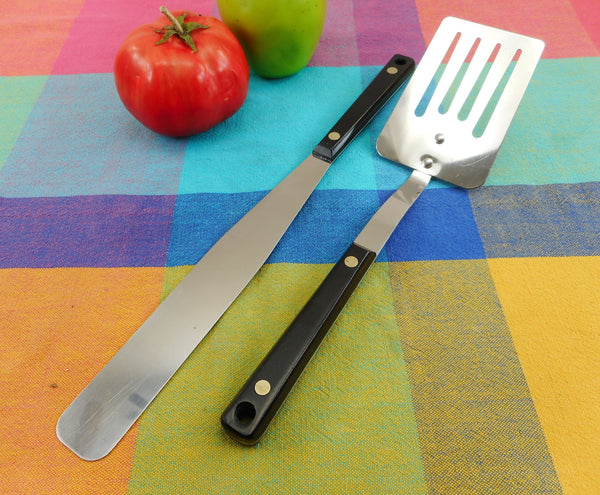 "Unbranded Ekco Flint Style Stainless 10.5"" Slotted Spatula and Icing Spreader"