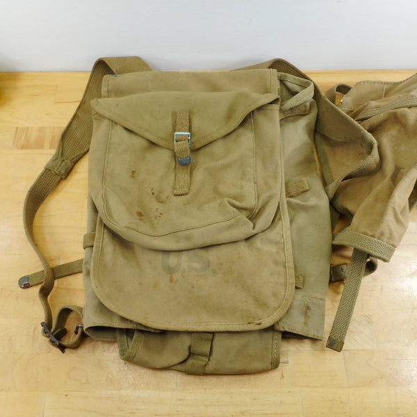 US Army 1942 WWII Haversack & Tail A. Reif Baker Lockwood