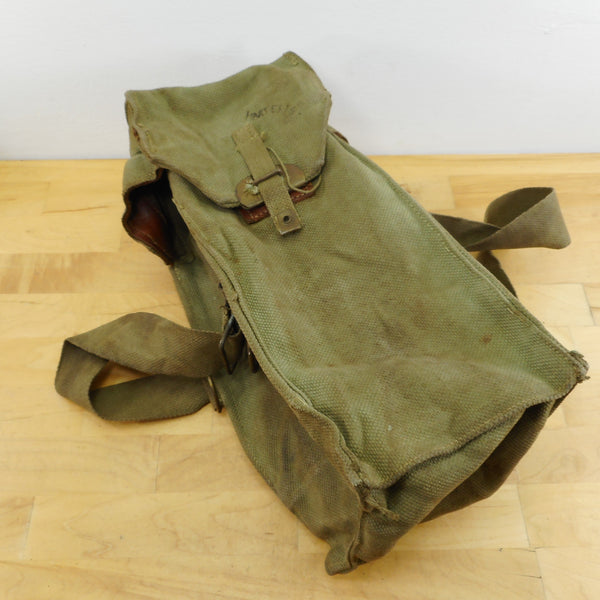 US Army WWII Canvas Leather Light Instrument Bag Pouch