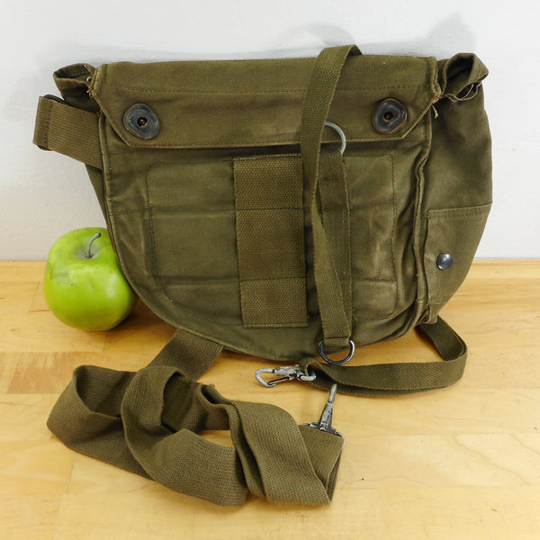 US Army USMC Green Canvas M17 Gas Mask Bag Pouch Re-Purpose