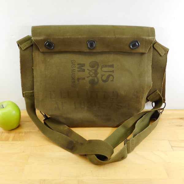 US Army USMC Green Canvas M9 Gas Mask Bag Pouch Re-Purpose