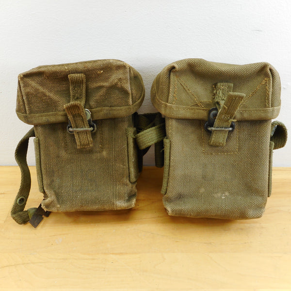 US Army Vietnam Era M1956 Small Arms Canvas Ammo Pouch