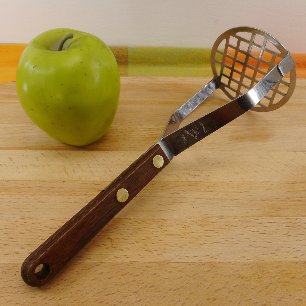 Utica USA American Maid Stainless Potato Vegetable Masher Wood Handle