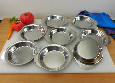 Vollrath 47406 Round Au Gratin Pans - 8 Set - Mirror 18-8 Stainless Steel Commercial Professional