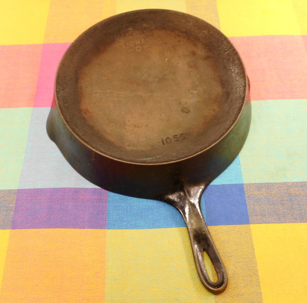 Wagner Ware Sidney O USA #1059 - Cast Iron Fry Pan Skillet #9 - Unrestored Heat Ring 1920-30s