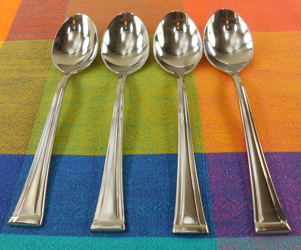 Waterford Kilbarry Stainless Flatware - 4 Place Oval Soup Spoons 7-1/8""