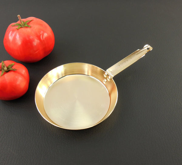 SOLD... West Bend Toy Size Skillet - 1911-1961 50th Anniversary - Gold Anodized Aluminum