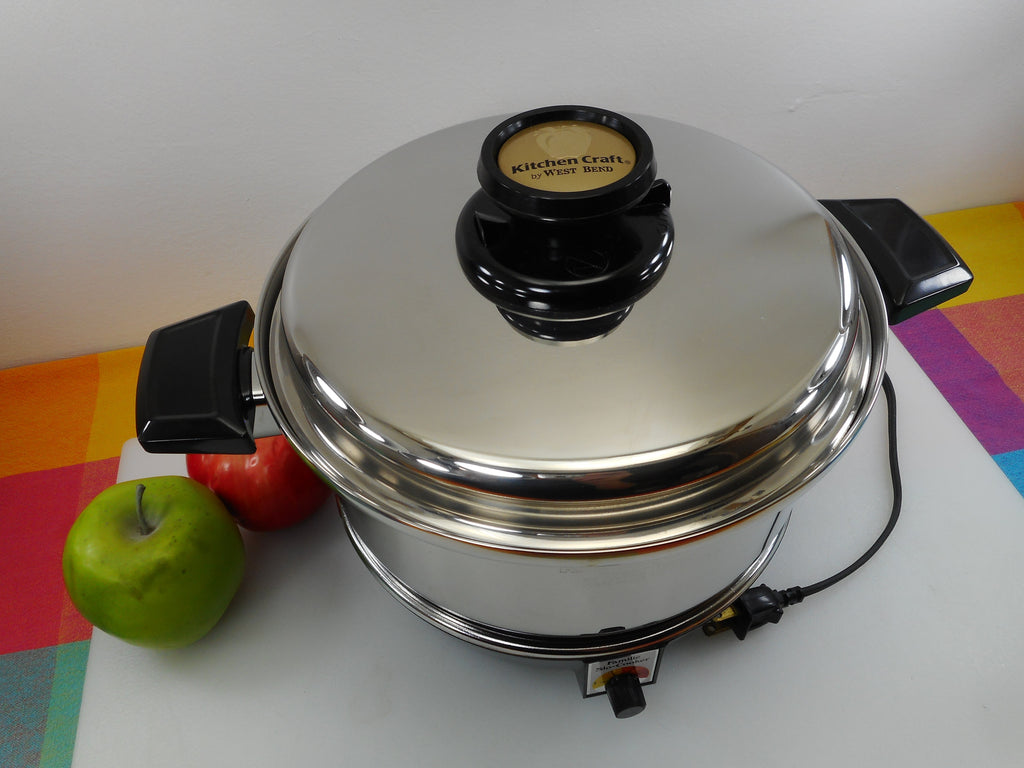 West Bend Kitchen Craft Familie Slo-Cooker - 4 Quart Pot & Electric Slow Cooker Base Used