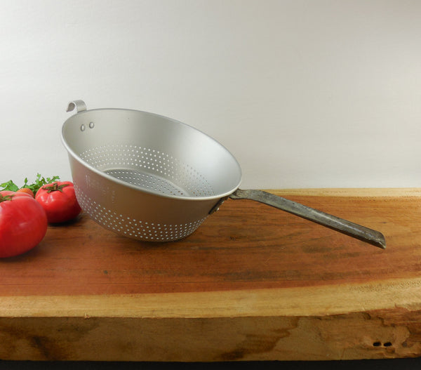 West Bend Aluminum Colander Strainer - Handle Pot Lip - Vintage Kitchenware Tool