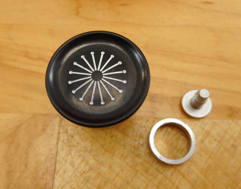 WearEver Wear Ever Cookware - NOS New Replacement Lid Knob - 773 774-1/2 902 937 938 940 Black Starburst Asssembly