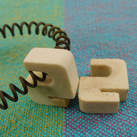 Westinghouse Electric Waffle Maker Cat. SGWB521 - Ceramic Element Clips Pair - Used Replacement Part