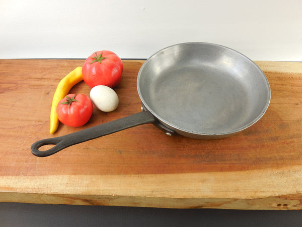 "SOLD... Wilton Mary Bond 9"" Skillet Fry Pan - Armetale Aluminum Steel Handle - 1970s Vintage"
