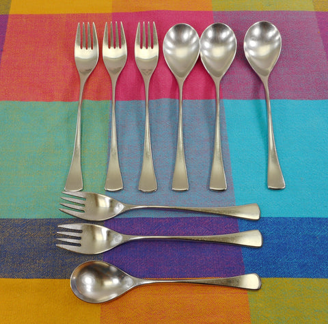 WMF Cromargan Germany Stainless Flatware - CANNES - FESTIVAL 9 Pieces