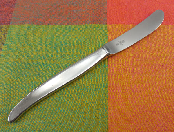"WMF Cromargan Germany -  Laurel Pattern - 8"" Curved Knife - Stainless Steel"