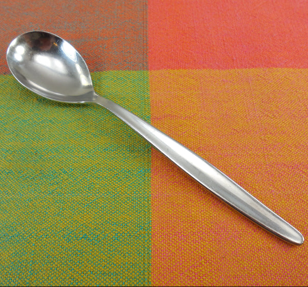 "WMF Cromargan Germany -  Laurel Pattern - 5-7/8"" Relish Condiment Spoon - Stainless Steel"