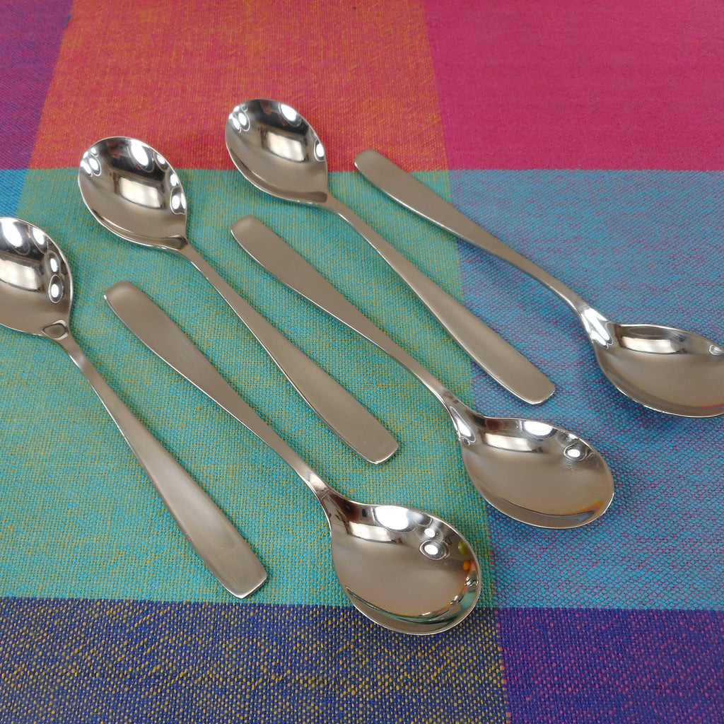WMF Cromargan Germany Linea 6 Set Egg Spoons 4-3/4""