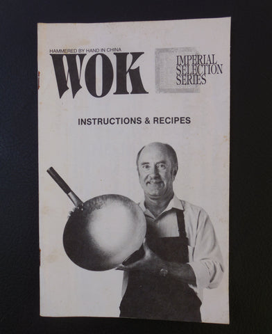 Wally Nash Wallywok Bo-Nash Wok Original Instruction and Recipe Boklet Manual