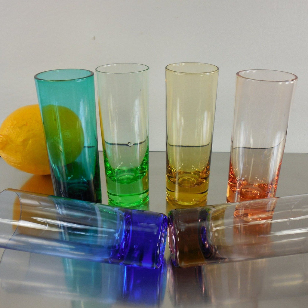 Multi-Color 2 Oz. Shot Glasses Shooters - 6 Set
