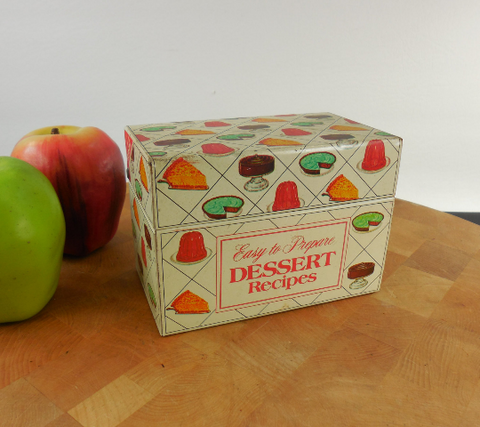 Nabisco Dessert Recipe Cards & Metal Box - for Royal Products Gelatin Pudding Etc.