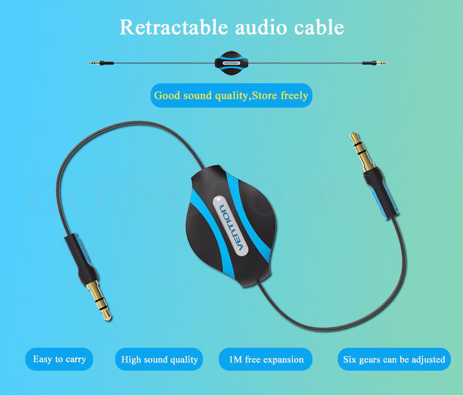 Vention BEABF Retractable Audio Cable 3.5mm Male to Male Auxiliary ...