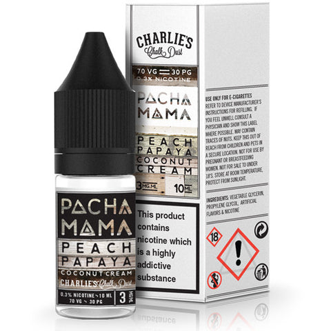 Pacha Mama E Liquid (Peach, Papaya and Coconut Cream) Cloudy Rooms
