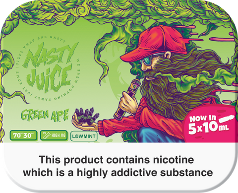 Nasty Juice - Green Ape 5x 10ml Pack - Cloudy Rooms