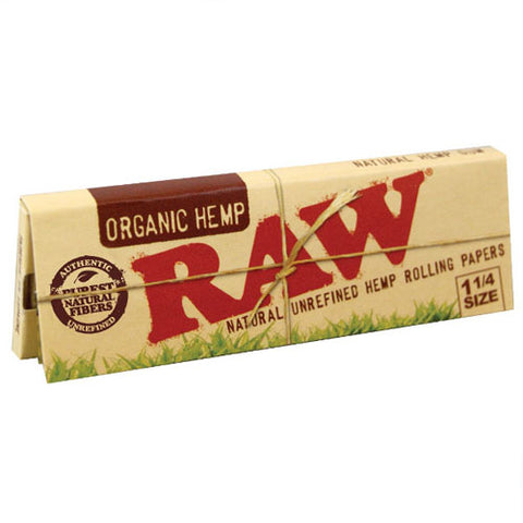 Raw - Organic Hemp 1 1/4 size papers