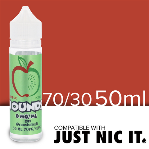 Crisp apple and tropical kiwi mixed together for a mouth watering experience. A strong performance from the mixologists over at Rounds E Liquid. Let the sumptuous fruit flavors take over all of your senses and give you a feeling like no other. Apple Kiwi is such a complimentary combination of tastes, light but still vibrant and fun. A daily vape for someone looking to add a clean vape juice to their routine.