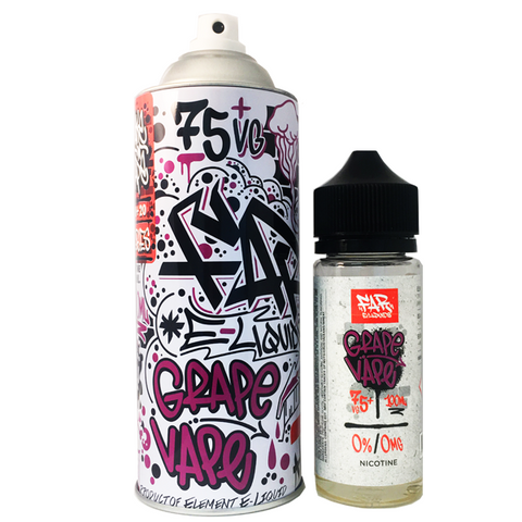 Full-bodied juicy medley of Concord, Ruby and Red Globe grapes.  75 VG. 100ml unicorn bottle included inside the FAR spray can. A palate-pleasing union of bright and fragrant grapes coming together for a delicious vape certain to satisfy your sweet tooth.  FAR e liquid by Element. Made in the US.