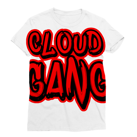 Turn heads in this bold all-over Cloud Gang print T-shirt, go ahead an rep that Cloud Gang with classic short sleeves and a rib round collar. By Vapours For Vapours.