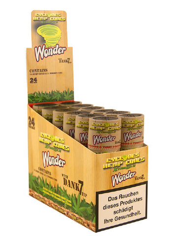 The Wonderberry blunt is made from pure hemp and then flavoured with lovely sweet tasting berries, as well as being already pre-tipped with a Dank7 tip which has which has been soaked for 7 days in blueberries. The hard tube is also re-usable and is great for locking in the intense flavours as well as making sure that your blunt can't be crushed. Within each tube there is two cyclone hemp blunts, already pre-rolled and ready to go. As with all of the pure hemp blunt ranges, there is no nicotine or tobacco.