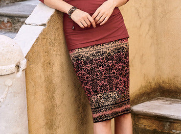 Heatwave cotton pencil skirt