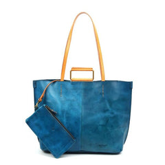 high hill leather tote old trend