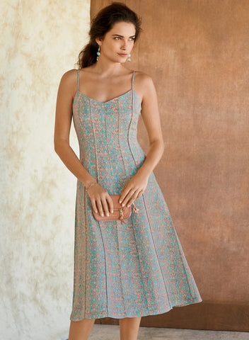 Mirador dress linen silk Peruvian connection