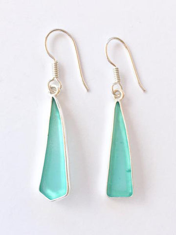 sea glass silver earrings charles albert