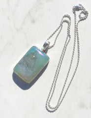 mia necklace window druzy drusy sterling silver